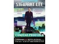 Tickets for Comedian Stewart Lee x 2 at Royal and Derngate