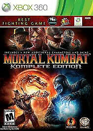 XBOX 360 MORTAL KOMBAT KOMPLETE EDITION (LOTS OF OTHER TITLES IN STORE)