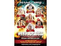 Two tickets for Heels of Hell Glasgow, Starring Sharon Needles and Alaska.