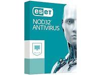 eset nod 32 antivirus full one year protection