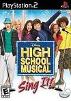 Disney High School Musical Sing It (ps2 used game)