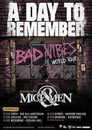 2 tickets to A Day To Remember Concord Canada Bay Area Preview