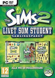 The Sims 2 University Life collection for PC English game Swedish packaging