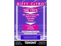 2 x TRNSMT Sunday day tickets - The 1975, Biffy Clyro