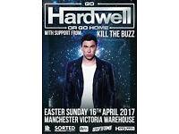 2x VIP Hardwell Tickets - Manchester - Tonight