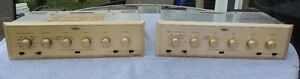 MATCHED PAIR H.H. SCOTT TYPE 210-E DYNAURAL LABORATORY 6L6 TUBE AMPLIFIERS