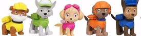 paw patrol 3d puzzle erasers .set of 5