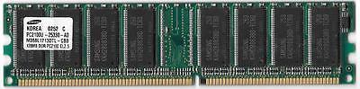 - SAMSUNG 128MB PC2100U 266MHZ CL 2.5 NON-ECC MEMORY