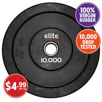 Elite Commercial Urethane Rubber Olympic Weights 325lbs Total