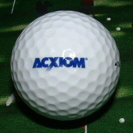 Logo Golf Ball Acxiom Company Co  Golfball Low Ship Titleist Dt 8 5
