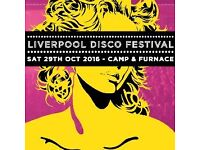 3X LIVERPOOL DISCO FESTIVAL TICKETS SATURDAY 29TH OCTOBER £50 FOR ALL OR BEST OFFER(BALTIC TRIANGLE)