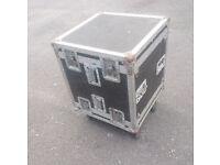 Flight Case, Wheeled, with removeable rack frame ideal for PA /DJ