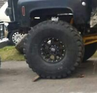 5 tires n r 4  rims 46 by13 on 20