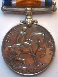 British War Medal 1914-1920 Reverse