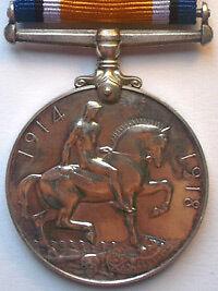British War Medal 1914-1920 Reverse