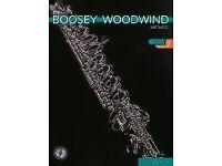 Flute - 3 books: Boosey Woodwind Method 1 (1 CD) + Method 2 (2 CDs) + Piano accompaniment