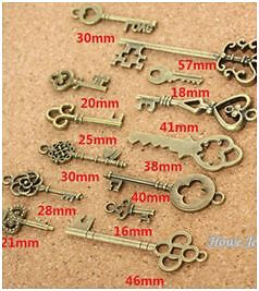 Vintage Charm Key Pendant Antique bronze Fit Bracelets Necklace