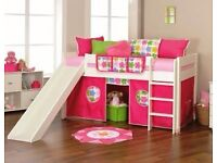 Mid sleeper Single bed with slide and play area
