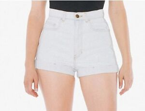 AMERICAN APPAREL HIGH WAIST JEAN CUFF SHORT - SIZE 24