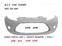 FORD FIESTA MK 7 / MK 8 NEW FRONT BUMPER 2009 NEW NEW INSURANCE APPROVED