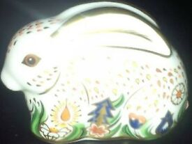 Royal Crown Derby Baby Rowsley Bunny Rabbit Paperweight