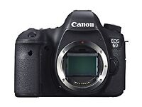 Canon 6d and lens EF 24-105 f/4L with 3 batteries and bag
