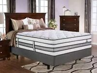 KING SIZE SERTA BOX SPRING/MATTRESS/FRAME/BEDDING/WARRANTY