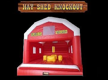 Hayshed Knockout Inflatable jumping castle game from $450