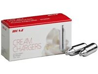 Mosa Cream Chargers singles, cases, pallets, wholesale