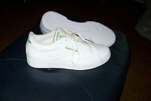 mens 11 white leather classic 6-892 Reebok court shoes sneakers