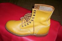 mens 12  leather vintage steel toe work boots CSA Made in Canada
