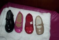 girls toddlers sz 7 pink & red pair shoes size 4 beige 7.5 black
