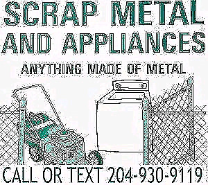 SCRAP METAL REMOVAL CALL OR TEXT TODAY