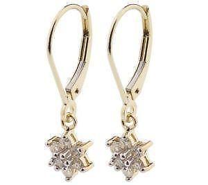 Yellow Gold Diamond Cer Earrings