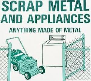 FREE SCRAP METAL AND APPLIANCES PICKUP AND REMOVAL TODAY