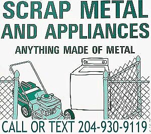 SCRAP METAL REMOVAL SERVICE CALL OR TEXT TODAY