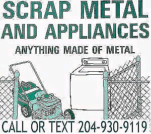 SCRAP METAL PICK UP SERVICE CALL OR TEXT TODAY