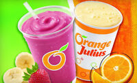 Orange Julius is looking for a seasonal food counter attendant