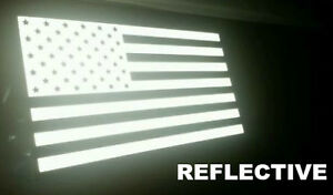 US American Flag REFLECTIVE Car Decal Sticker Patriotic, Auto, Window, Bike, USA