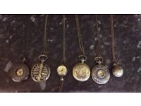 Set of 6 Pocket watches. -£10