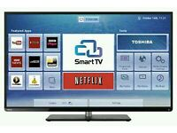 """TOSHIBA 47"""" FULL HD 3D SMART LED TV with Built in WiFi, Freeview HD, New Condition."""
