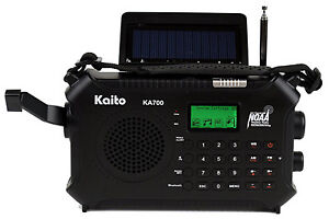 Kaito KA-700 Wind Up & Battery Operated Radio w/ AM/FM & Weather