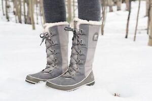 Bottes d'hiver Sorel Tivoli High II Quarry - Femme 9us 40eur