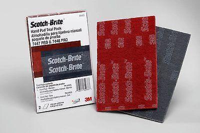 1 Pack 3M Scotch-Brite Pro Hand Pad 1-7447 Pro 1-7448 Pro Per Pack 64933