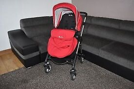 Silvercross wayfarer chilli red travel system pram - carrycot - carseat - stroller - buggy