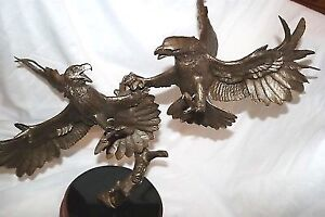 """Franklin Mint """"clash of the Sky Kings """" bronze eagles"""
