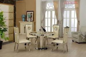 Marble Top Dining Table Coffee T V Unit Console