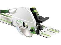 Festool TS75 track saw + Module holder + stand