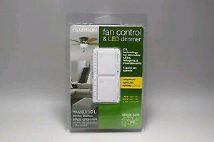 Lutron Maestro Fan Control and Light Dimmer for dimmable LEDs,