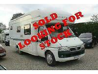 I WANT TO BUY YOUR MOTORHOME Autotrail Cheyenne - Fixed Bed 2 Berth - SOLD